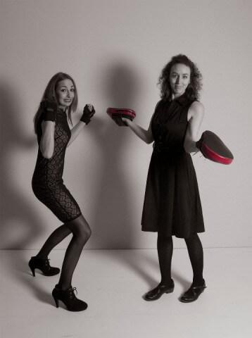 Magdalena & Nicole mit Pratzen
