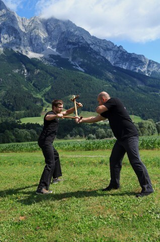 Martial Arts Kama Training