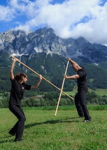 Martial Arts Staff Training